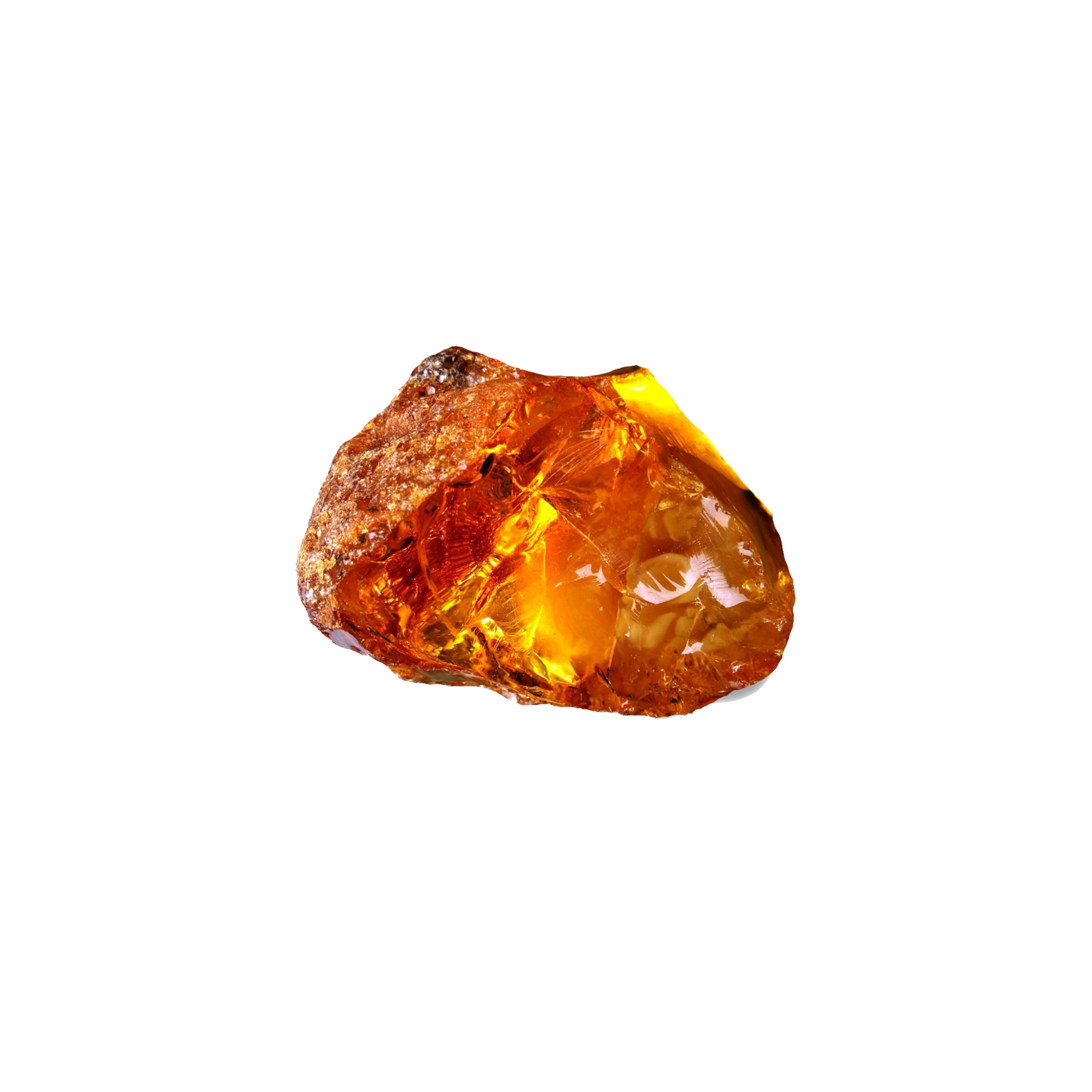 Transparent cherry amber from the Baltic Sea, Kaliningrad oblast of Russia