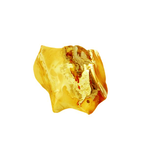 Matte yellow amber from the Baltic Sea, Kaliningrad oblast of Russia