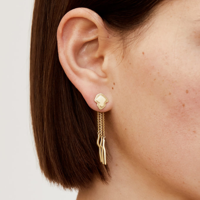 Atlas Cinque Terre Gold Plated Silver Jacket Earrings