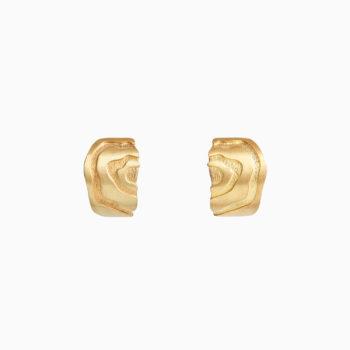 Серьги Атлас Ааре из серебра с покрытием золотом