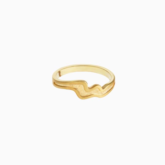 Кольцо Атлас Амур из серебра с покрытием золотом