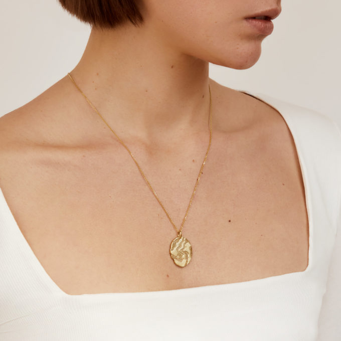 Bosphorus Gold Plated Silver Medallion on a Chain