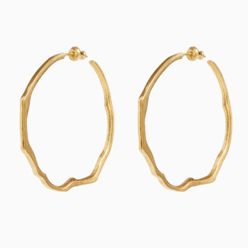 Atlas Cabo da Roca Gold Plated Silver Hoop Earrings