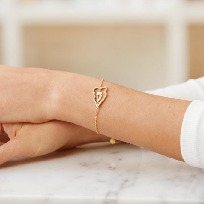 Atlas Luzon Gold Plated Silver Bracelet