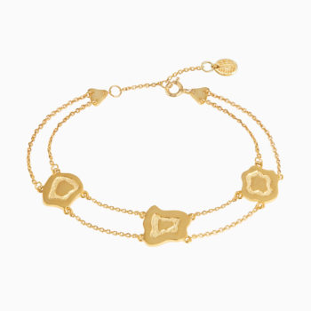 Atlas Mgahinga Gold Plated Silver Layered Bracelet