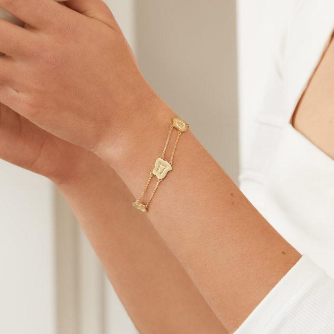 Atlas Mgahinga Gold Plated Silver Layered Bracelet