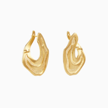 Atlas Nuwara Eliya Gold Plated Silver Earrings