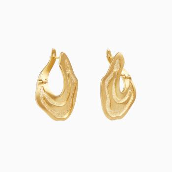 Серьги Атлас Нувара-Элия из серебра с покрытием золотом