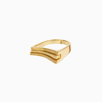 Atlas Riviera Gold Plated Silver Ring
