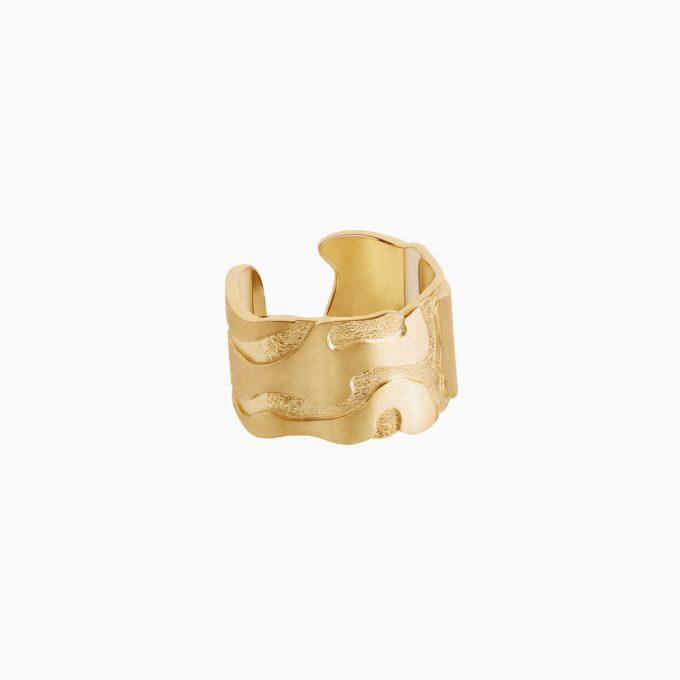 Кольцо Атлас Сан-Франциско из серебра с покрытием золотом