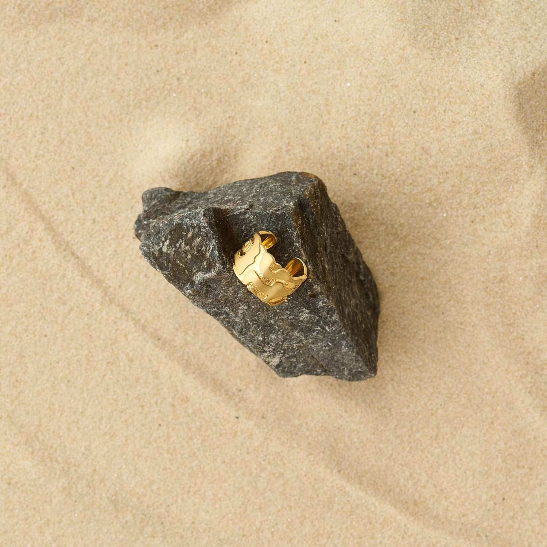 Atlas San Francisco Gold Plated Silver Ring
