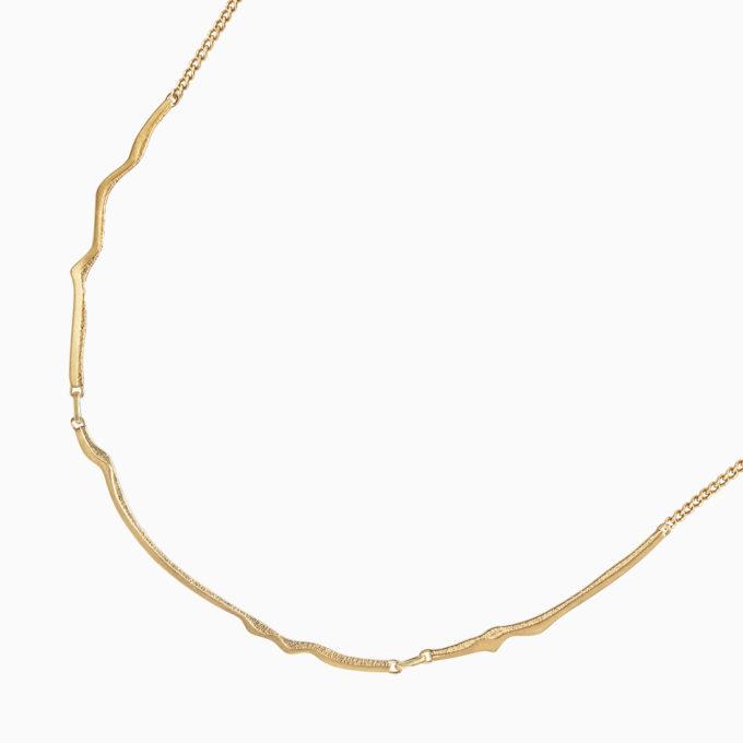 Колье Атлас Тейде из серебра с покрытием золотом