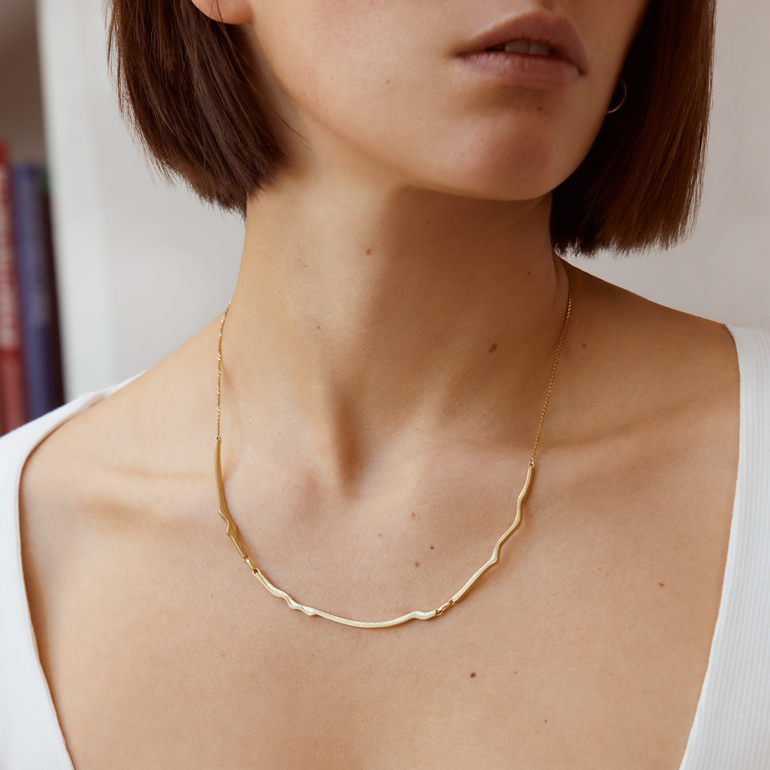 Atlas Teide Gold Plated Silver Necklace