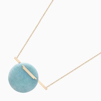 Колье Una из золота с голубым кварцем