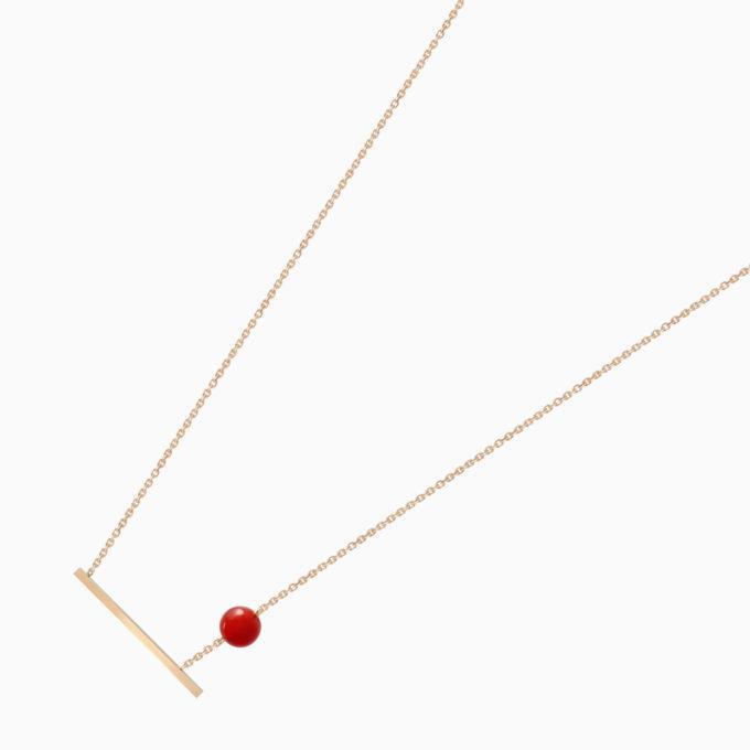 Колье Una из золота с ониксом